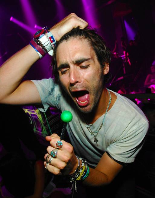 Tyson Ritter parties at Chateau Nightclub & Gardens in the ...