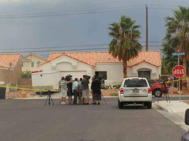 A 10-year-old boy was shot in the head inside a home near Gowan Road and Allen Lane on Thursday, Aug. 9, 2012 in North Las Vegas.