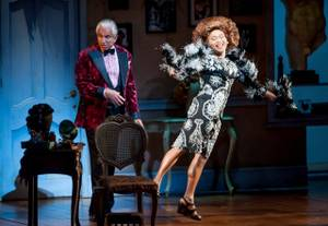 """La Cage Aux Folles"" starring George Hamilton at Reynolds Hall in the Smith Center for the Performing Arts on Tuesday, Aug. 14, 2012. Hamilton, left, is pictured here with Jeigh Madjus."