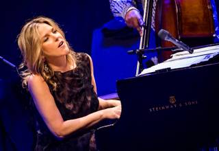 Diana Krall performs in Reynolds Hall at the Smith Center for the Performing Arts on Monday, Aug. 13, 2012.