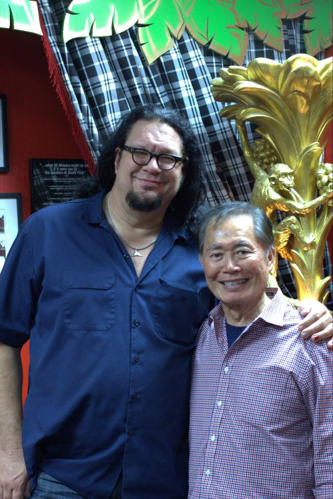 Penn Jillette and George Takei at the Rio.