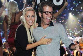 Jenny McCarthy parties with Perez Hilton at 1OAK in the Mirage on Friday, Aug. 17, 2012.