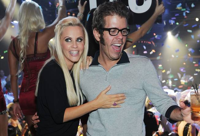 Jenny McCarthy parties with Perez Hilton at 1OAK in the ...