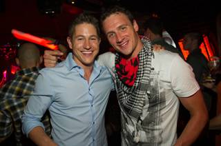 Ryan Basford and Ryan Lochte at Lavo in the Palazzo on Friday, Aug. 17, 2012.