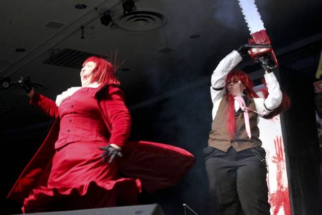 2012 Masquerade competition winner Melissa Schurig and partner perform at Animegacon at LVH on Saturday, Aug. 18, 2012.
