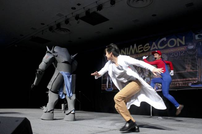 Cosplayers performed during the Masquerade competition during Animegacon 2012 at LVH on Saturday, Aug. 18, 2012.