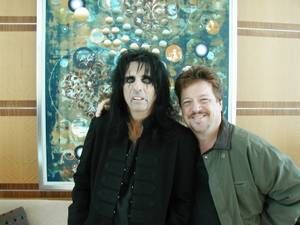 Danny Zelisko and one of his favorites, Alice Cooper, who is performing at Pearl Concert Theater on Nov. 30.