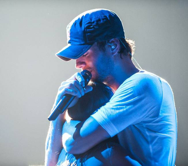 Enrique Iglesias performs at Mandalay Bay Events Center on Saturday, Aug. 18, 2012.