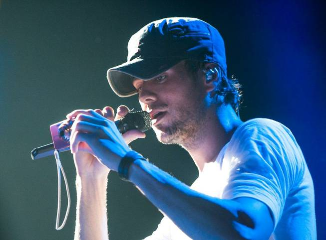 Enrique Iglesias performs at Mandalay Bay Events Center on Saturday, ...