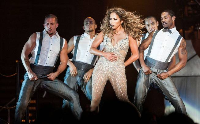 Jennifer Lopez performs at Mandalay Bay Events Center on Saturday, ...