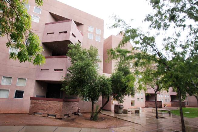 Hughes Hall, part of the Upper Class Complex on the campus of UNLV in Las Vegas on Wednesday, August 22, 2012.