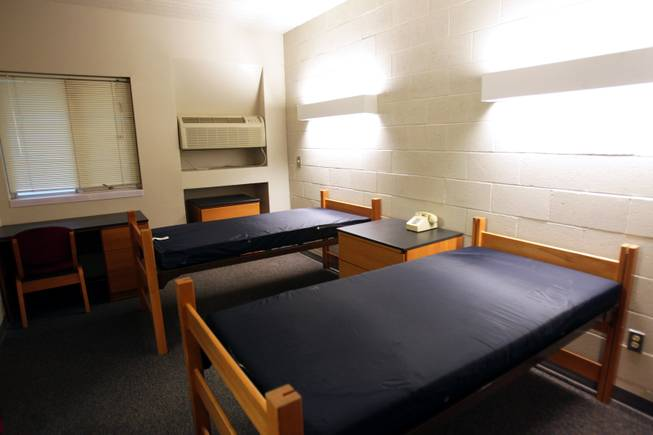A dorm room inside South Complex on the campus of UNLV in Las Vegas on Wednesday, August 22, 2012.