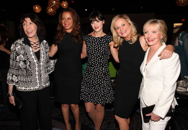 (L-R) Actors Lily Tomlin, Maya Rudolph, Zooey Deschanel, Amy Poehler and Florence Henderson attend the Academy of Television Arts & Sciences 2012 Performers Peer Group Reception at the Sheraton Universal Hotel on August 20, 2012 in Universal City, California.