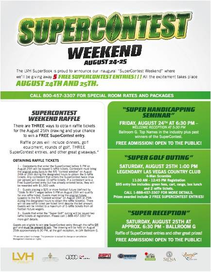 Supercontest Weekend Details