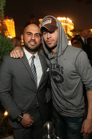 Enrique Iglesias, right, at Hyde in Bellagio on Saturday, Aug. 18, 2012.
