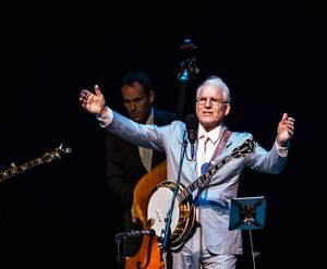 Steve Martin and The Steep Canyon Rangers perform at Reynolds Hall at The Smith Center for the Performing Arts on Wednesday, Aug. 22, 2012.