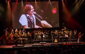 """The Symphonic Rock Show,"" featuring Brody Dolyniuk, a band and 25 orchestral musicians, at Reynolds Hall in the Smith Center for the Performing Arts on Friday, Aug. 24, 2012."