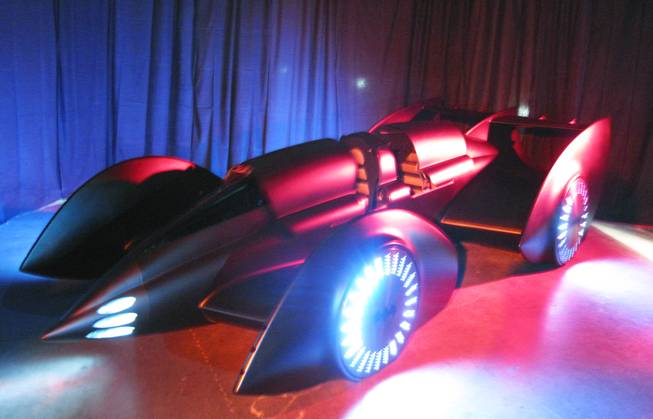 "A new version of the Batmobile was unveiled at the UNLV Cox Pavillion in Las Vegas on Monday in advance of the arrival of ""Batman Live"" in October. ""Batman Live"" is a stage production that combines the classic story of comic book super hero Batman with high-flying acrobatics, pyrotechnics and an original score."