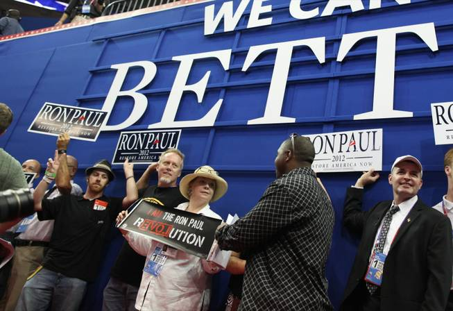 Ron Paul Supporters at the 2012 Republican Convention