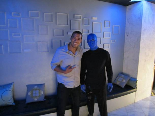 Michael Yo at Blue Man Group in the Venetian.