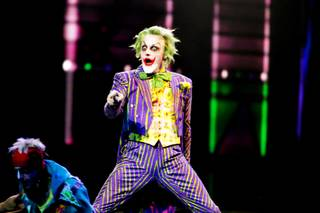 Mark Frost performs as The Joker during a technical rehearsal for