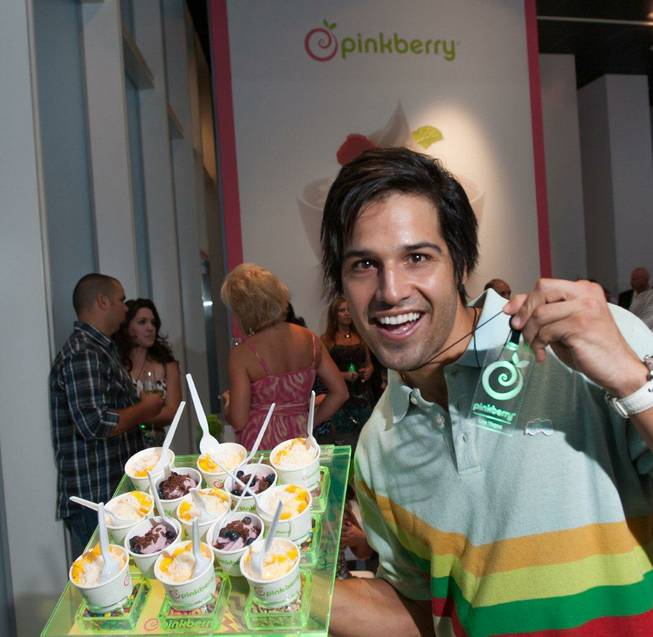 Ricardo Laguna attends the Pinkberry opening at Crystals in CityCenter on Thursday, Aug. 30, 2012.