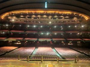 The view from the stage at Radio City Music Hall in New York.