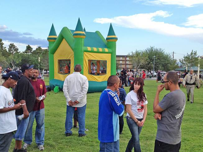 A scene at an outreach event at Molasky Park near Maryland Parkway and Twain Avenue, Friday, Aug. 31, 2012.