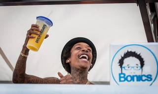 Wiz Khalifa hosts and performs at Ditch Fridays in the Palms Pool on Friday, Aug. 31, 2012.