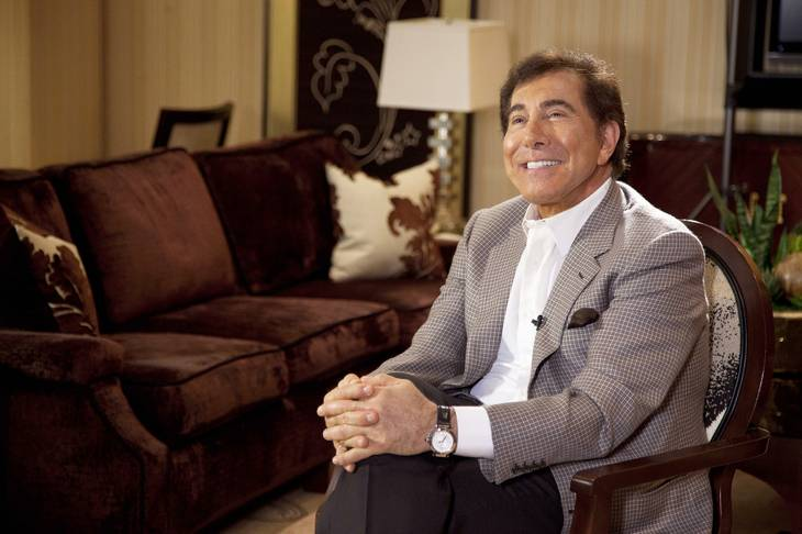 Steve Wynn answers questions about his upcoming wedding to Andrea Hissom in Las Vegas on April 27, 2011.