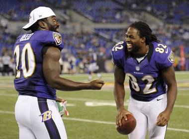 Ed Reed and Torrey Smith