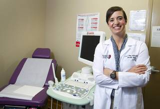 Dr. Aimee Fleury poses in an exam room at the Women's Cancer Center of Nevada, 3131 La Canada Street, Thursday, Sept. 6, 2012. Fleury, a gynecologic oncologist, joined the center this August.