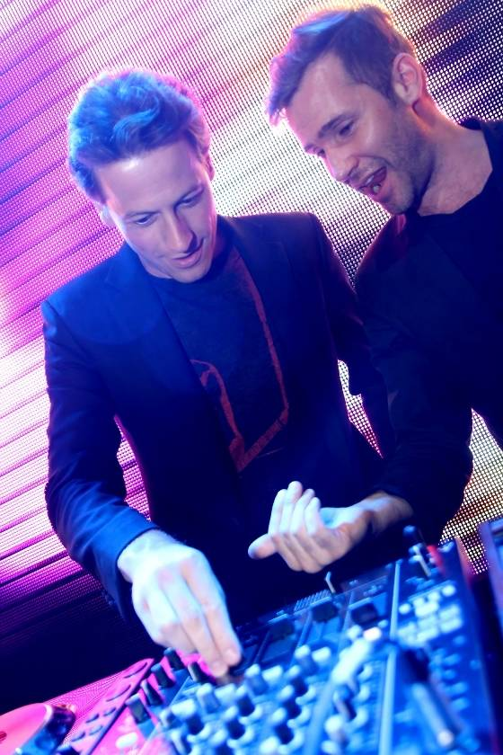 Ioan Gruffudd and DJ Zen Freeman at Rain in the Palms on Saturday, Sept. 1, 2012.