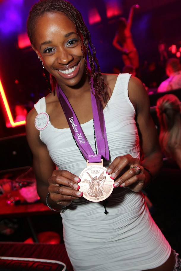 Janay DeLoach at Rain in the Palms on Saturday, Sept. 1, 2012.