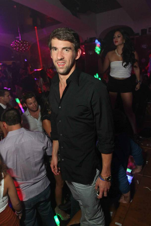 Michael Phelps at Hyde Bellagio on Tuesday, Sept. 4, 2012.