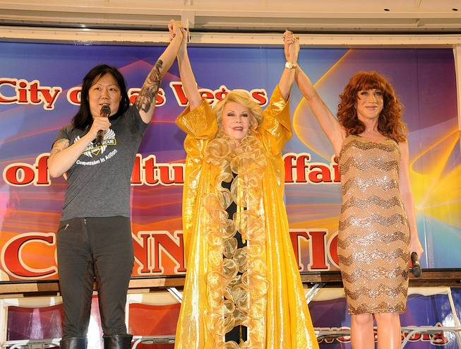 Celebrity grand marshals Joan Rivers, Margaret Cho and Kathy Griffin at the Pride Parade downtown on Friday, Sept. 7, 2012.