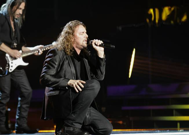 Fernando Olvera, of musical group Mana, performs at the 12th Annual Latin Grammy Awards on Thursday Nov. 10, 2011 in Las Vegas.