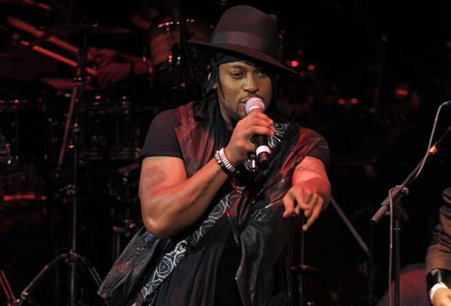 D'Angelo performs at the Pearl in the Palms on Friday, ...