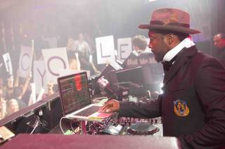 Will.I.Am spins at Marquee in the Cosmopolitan of Las Vegas on Saturday, Sept. 8, 2012.