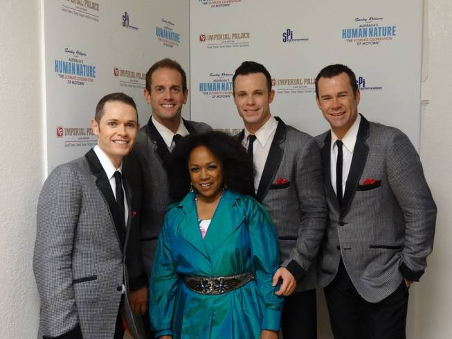 Susaye Greene of the Supremes with Human Nature at Imperial Palace on Tuesday, Sept. 11, 2012.