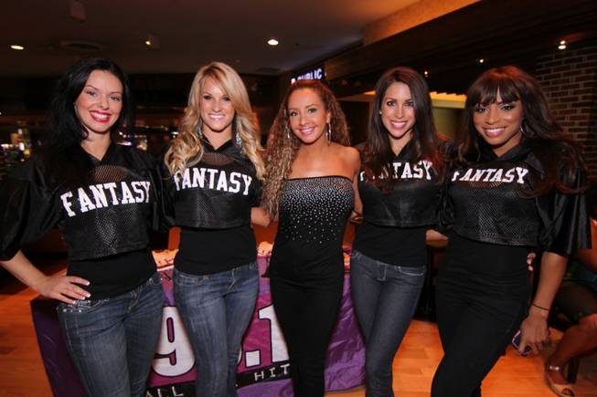 "Cast members of ""Fantasy"" at Public House in the Luxor on Monday, Sept. 10, 2012."