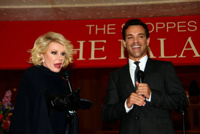 Joan Rivers and George Kotsiopoulos at Fashion's Night Out in Palazzo on Thursday, Sept. 6, 2012.
