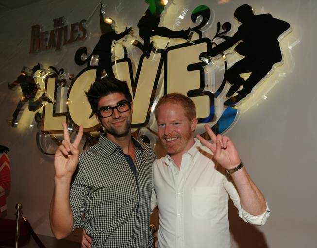 "Justin Mikita and Jesse Tyler Ferguson at ""Love"" in the Mirage."