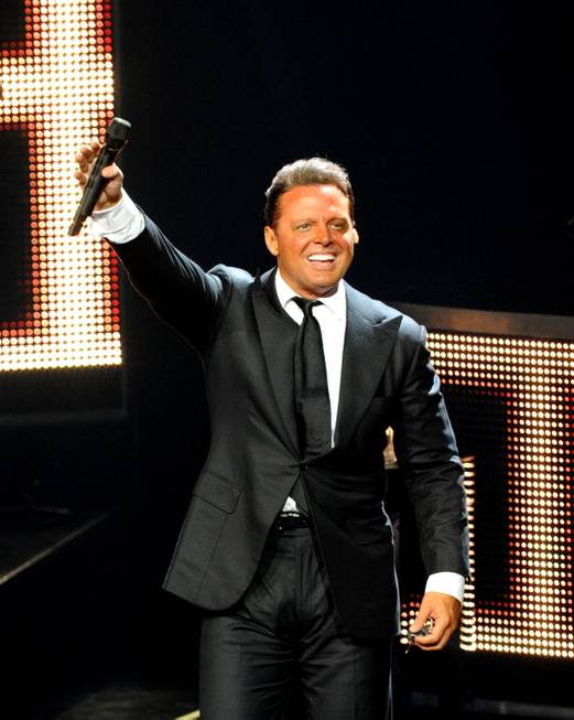 Luis Miguel performs at the Colosseum in Caesars Palace on ...
