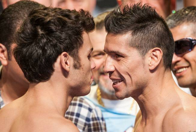 Julio Cesar Chavez Jr. and Sergio Martinez weigh in at ...