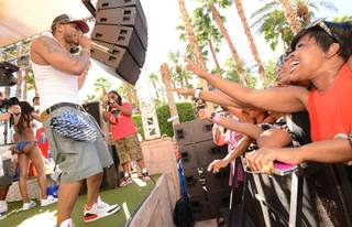Nelly hosts and performs at Rehab and Body English in Hard Rock Hotel Las Vegas on Sunday, Sept. 15, 2013.