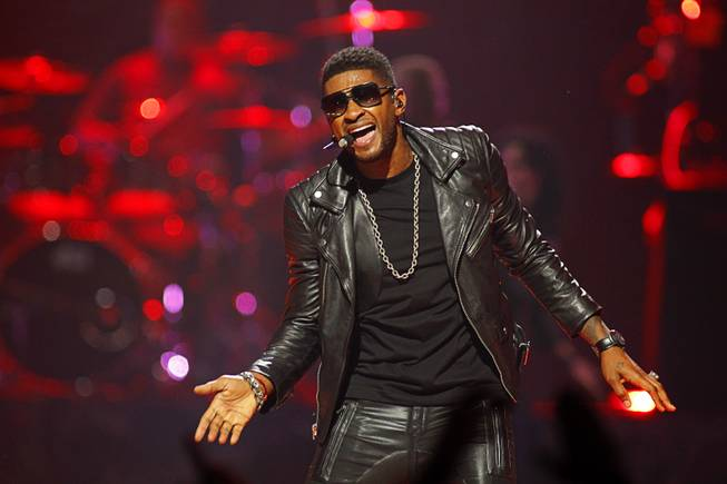 Usher performs during the 2012 iHeartRadio Music Festival at MGM Grand Garden Arena on Friday, Sept. 21, 2012.
