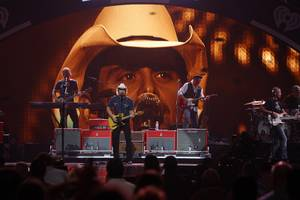 Brad Paisley performs during the second night of the 2012 iHeartRadio Music Festival at MGM Grand Garden Arena on Saturday, Sept. 22, 2012.