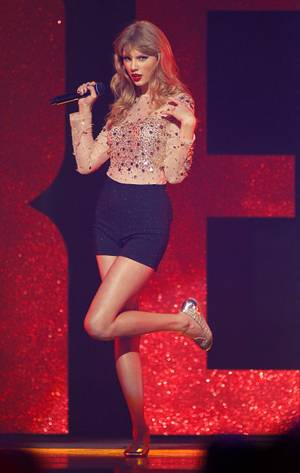 Taylor Swift performs during the second night of the 2012 iHeartRadio Music Festival at MGM Grand Garden Arena on Saturday, Sept. 22, 2012.