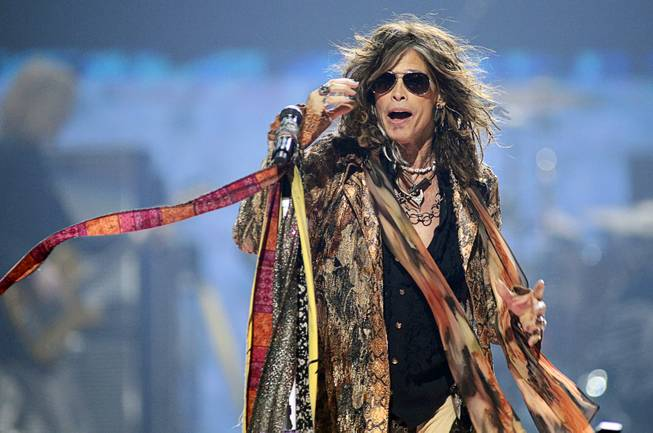 Steven Tyler of Aerosmith performs during second day of the 2012 iHeartRadio Music Festival at the MGM Grand Garden Arena in Las Vegas, Nevada September 22, 2012.